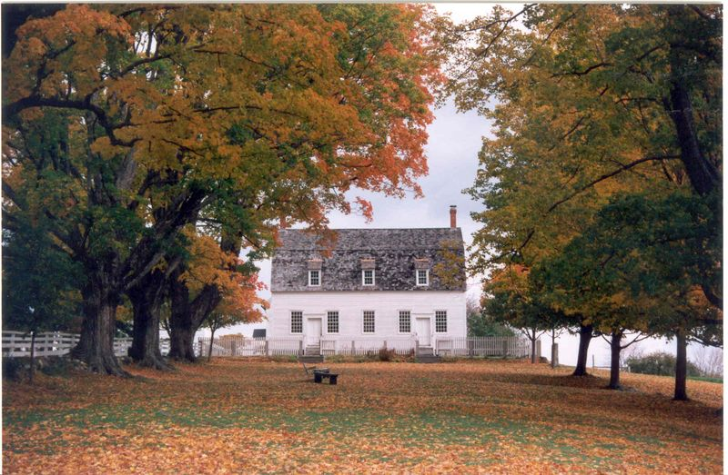 Meeting House in Fall