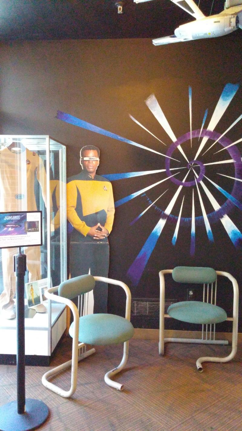 Star Trek artifacts - chairs from Next Generation set