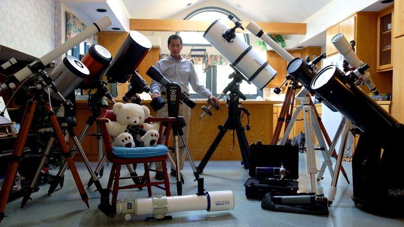 Ed Ting, telescopes