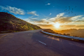 Mountain-road-sunset