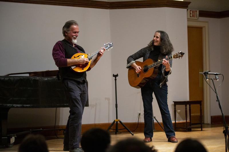 Mandolin fest 2019 - David Surette and Susie Burke - by Elizabeth Frantz