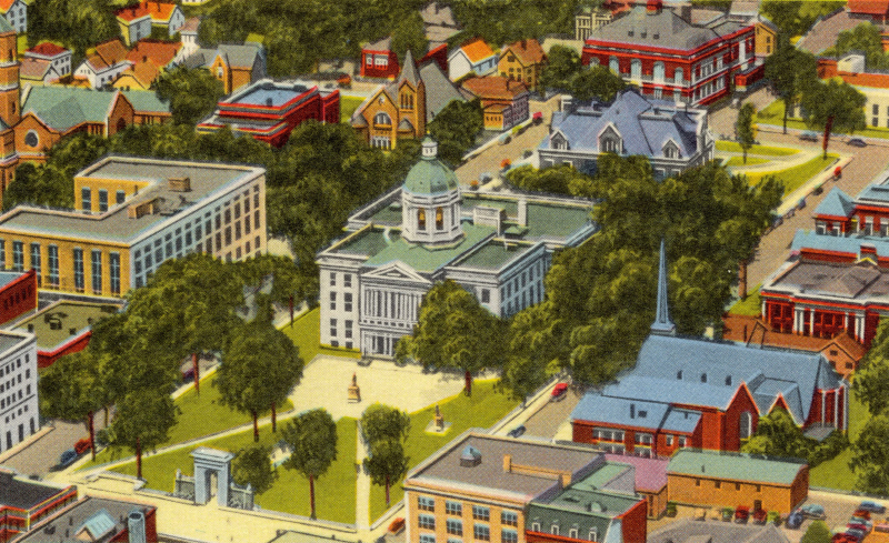 Aerial-view-of-state-and-city-building-concord-new-hampshire